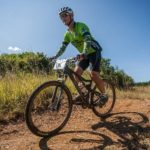 Close-up of cyclist enjoying the ride during the Sabie Xperience over the weekend. Photo: Land Rover Nelspruit