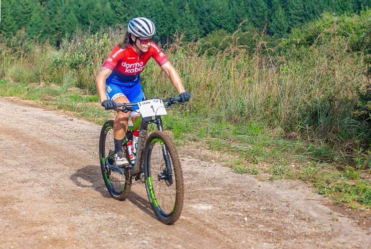 Samantha Sanders in action during stage one of the Sabie Xperience.