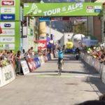Luis León Sanchez pictured winning stage four of the Tour of the Alps today. Photo: Pentaphoto/Tour of the Alps
