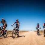 Mountain bikers in action during stage one of last year's Trail & Trout