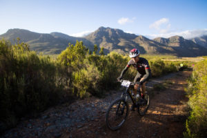 Winelands Encounter cyclist in action during stage two.