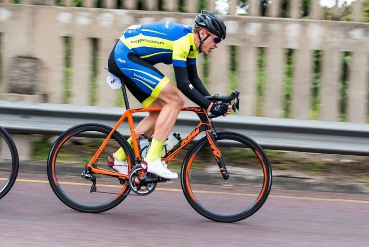 Bradley Potgieter, pictured here in Vander Group attire at the Tour Durban, hopes to make his mark for the team at the inaugural 100 Cycle Challenge. Photo: Jetline Action Photo