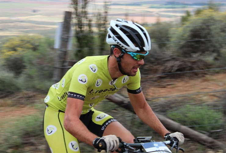 """Charl-Pierre Esterhuyse, pictured here, has decided to """"take a step back"""" from competitive cycling. Photo: Supplied"""