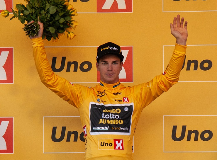 LottoNL-Jumbo's Dylan Groenewegen sprinted to victory on stage three of the Tour of Norway in Sarpsborg. Photo: Photo credits