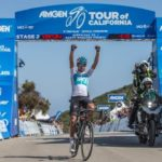 Team Sky's Egan Bernal won the 157km second stage of the Tour of California yesterday. Photo: Jim Safford