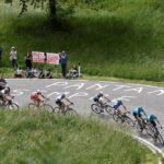 Quick-Step Floors' Maximilian Schachmann surged to victory in a gruelling battle to the Prato Nevoso summit in stage 18 of the Giro d'Italia. Photo: Fabio Ferrari-LaPresse