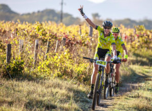 Riders in action stage one Gravel & Grape Extreme 3-day