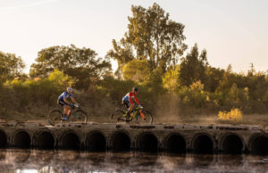 Dylan Rebello & Robert Hobson stage one Gravel & Grape Extreme 3-day