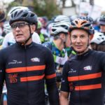 Joel Stransky and Andrew Mclean before stage one of the PwC Great Zuurberg Trek.