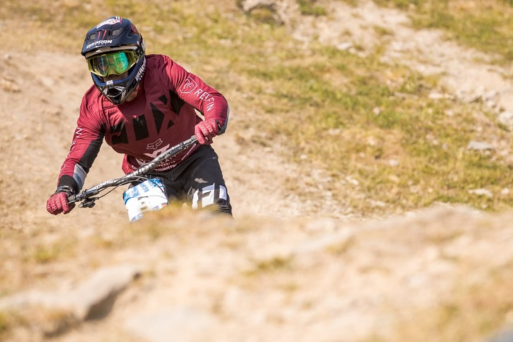 Johann Potgieter hopes to make his chances count at the UCI Downhill Mountain Bike World Cup in Fort William. Photo: Sebastian Gruber