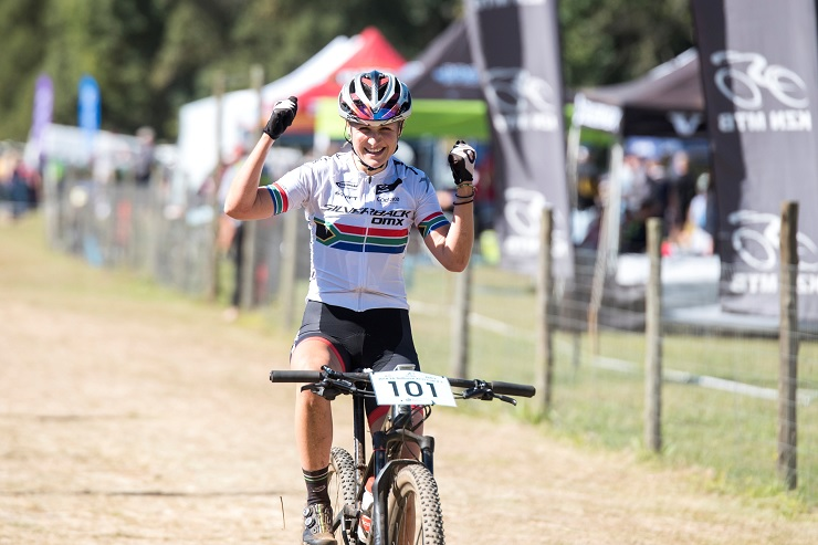 Mariske Strauss claimed victory in the third SA Cup Series XCO event at the Cascades MTB Park in Pietermaritzburg on Saturday. Photo: BOOGS Photography/Andrew Mc Fadden