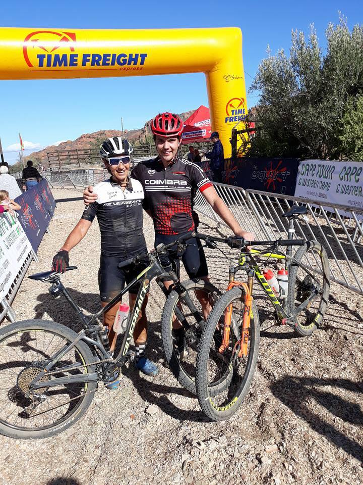 Yolande de Villiers and Jan-Paul Gerber were the respective women's and men's winner of the feature race at the Redstone MTB Weekend