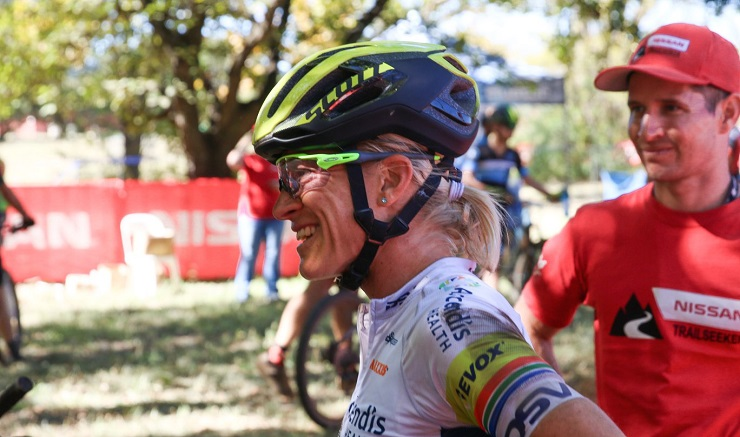 Team Ascendis's Robyn de Groot won the opening race in the Trailseeker Series