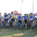 Tristan Nortje and Kirstin Roelofse won the junior races of the Schools MTB League in tne first Southern Cape event at Klipheiuwel Trail Park today. Photo: Facebook/@EdenSpurMTBSchoolsLeague