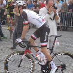 Sunweb's Tom Dumoulin, pictured here, won the 9.7km time-trial on stage one of the Giro d'Italia in Jerusalem today. Photo: Photo credits