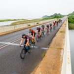 Riders crossing a bridge during this year's Tour Durban