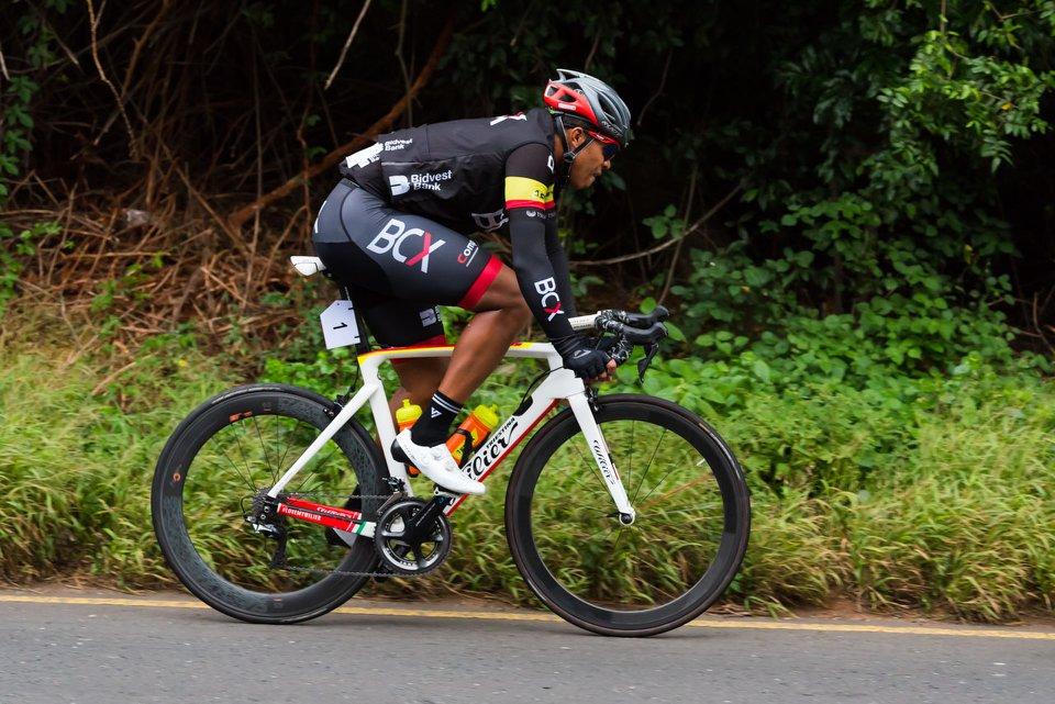 Team BCX's Nolan Hoffman in action during this year's Tour Durban