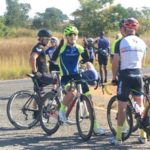 Tristan Cuthbert won the men's feature race at the Plot Opskop in Rooiwal today