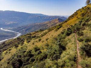Beautiful mountains were the backdrop for riders on day two of sani2c Trail.