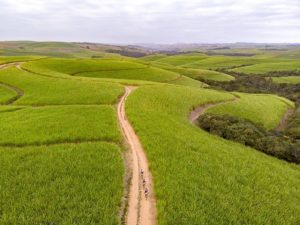 Beautiful farmlands seen on the final day of the sani2c Trail