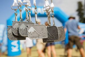 Medals that riders receive on the final day of the sani2c Trail