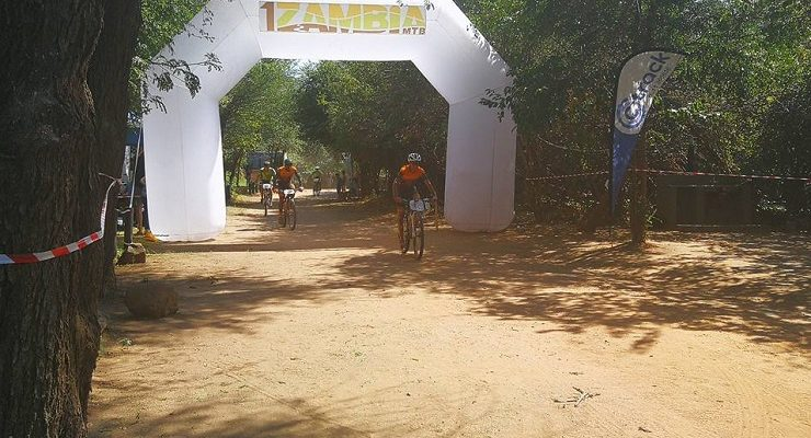 Ryan Ellis and Bernard Saulombu won the third and final stage and with it the overall title of the 1Zambia MTB race today. Photo: Facebook/@1ZambiaMTB