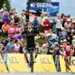 Mitchelton-Scott's Adam Yates won the 129km seventh and final stage of the Criterium du Dauphine, as Team Sky's Geraint Thomas won the race title. Photo: ASO/Alex Broadway