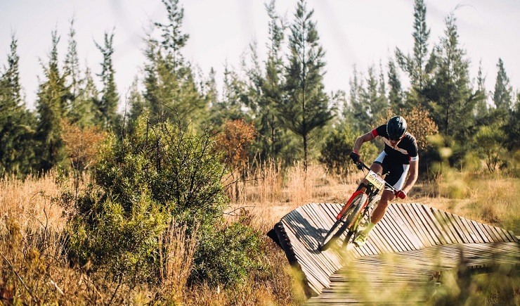 Arno du Toit won the men's race in the second Trailseeker Series event