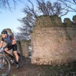 A rider moving through a ruin during stage two of the Greyt Escape. Photo: Oakpics.com