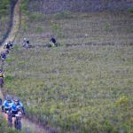 Riders going through a flat fynbos section in stage two of the Greyt Escape. Photo: Oakpics.com