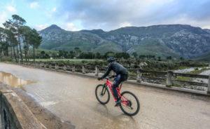 Rider crosses a bridge stage one Greyt Escape