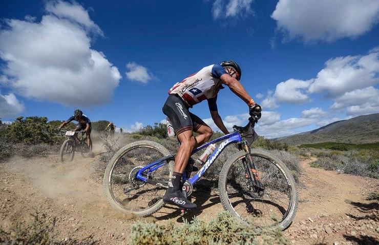 HB Kruger was delighted to win his second race in a row when he was victorious in the Robertson Winery MTB Challenge. Photo: ZC Marketing Consulting