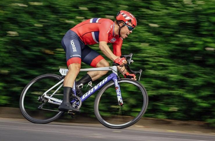 Norway's Rassmus Fossum Tiller won the individual time-trial prologue of the under-23 Grand Prix Priessnitz Spa. Photo: Jan Brychta/@ZavodMiruU23