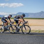 Reinhardt Janse van Rensburg (left) will take part in his first WorldTour event of the season when he lines up for Team Dimension Data in the nine-stage Tour de Suisse. Photo: Stuart Pickering
