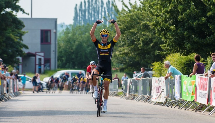 South African Rohan du Plooy, who is currently racing for CC Chevigny Crabbé, won the Perwez 1.12 Beker van België
