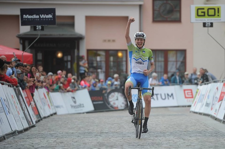 Slovenia's Tadej Pogačar won the 158km third and final stage of the Grand Prix Priessnitz spa and with it the race title when it concluded in Jeseník, Czech Republic, today. Photo: Jan Brychta