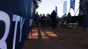 Riders line up for stage one of the Liberty Waterberg Encounter