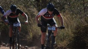 Hanco Kachelhoffer and Pieter Seyffert in action during stage one of the Liberty Waterberg Encounter
