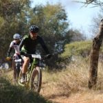 Riders taking on a dusty single track during stage three of the Waterberg MTB Encounter. Photo: Gerrie Kriel / Twin Productions SA