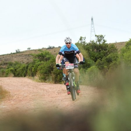 Team Garmin MTB's Ben Melt Swanepoel, pictured here at the recent Great Zuurberg Trek, was happy with his Wildevy MTB Race win