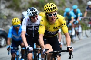 Team Sky's Geraint Thomas in action on stage 12 of the Tour de France