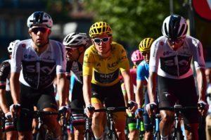 Team Sky's Geraint Thomas in the peloton