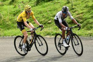 Team Sky's Geraint Thomas and Egan Bernal