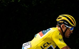 Greg van Avermaet in action on stage five of the Tour de France