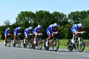 Groupama-FDJ on stage three of the Tour de France