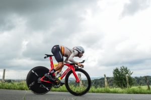 Team Sky's Jonathan Castroviejo in action during his individual time-trial