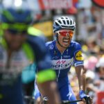 Quick-Step Floors' Julian Alaphilippe climbed to victory on stage 10 of the Tour de France