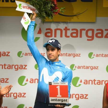 Mikel Landa celebrating his victory on stage 19 of the Tour de France. Photo: ASO/Bruno Bade