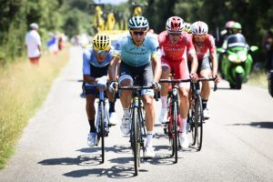 Astana's Omar Fraile during stage 14 of the Tour de France