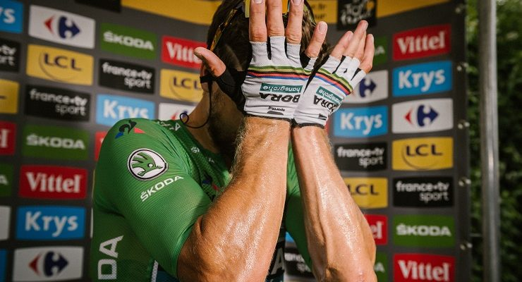 Bora-Hansgrohe's Peter Sagan after stage 13 of the Tour de France.